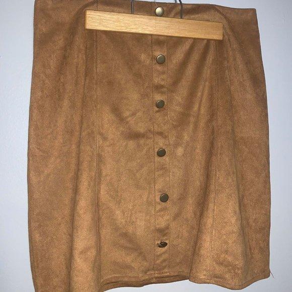 Monteau Suede Skirt